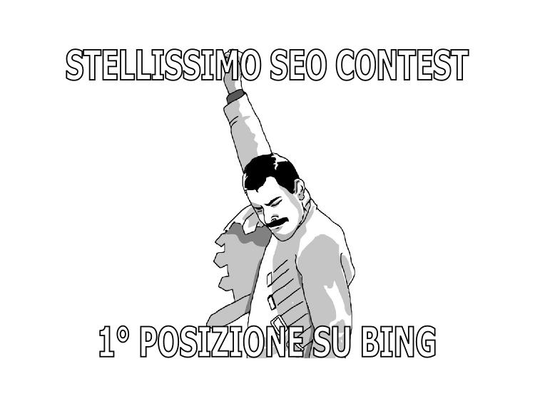 Prima posizione su Bing vittoria del contest SEO Stellissimo
