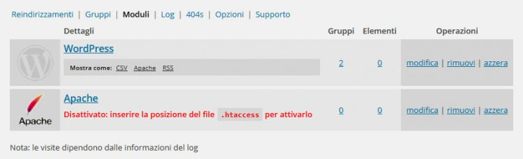 Redirection WordPress plugin per il redirect 301